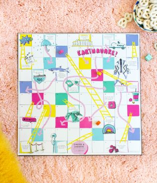 DIY Los Angeles Chutes and Ladders Game