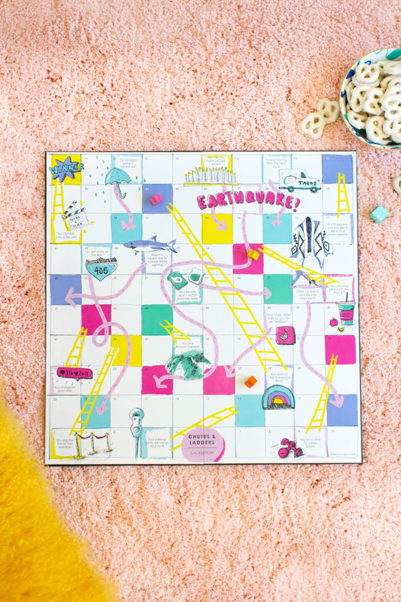Diy los angeles chutes and ladders game lovely indeed download and print your own los angeles chutes and ladders game solutioingenieria Images