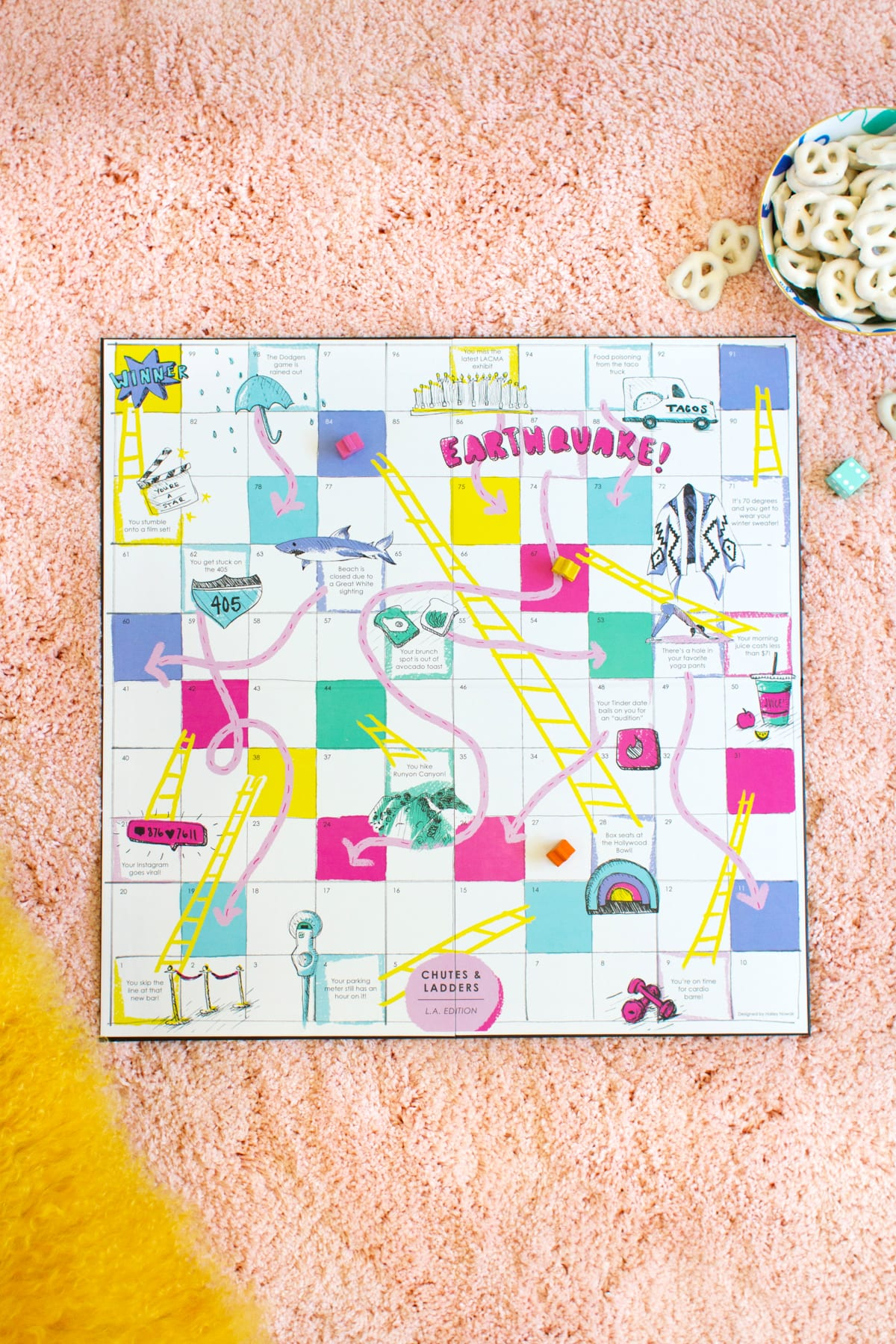 chutes and ladders board game template - diy los angeles chutes and ladders game lovely indeed