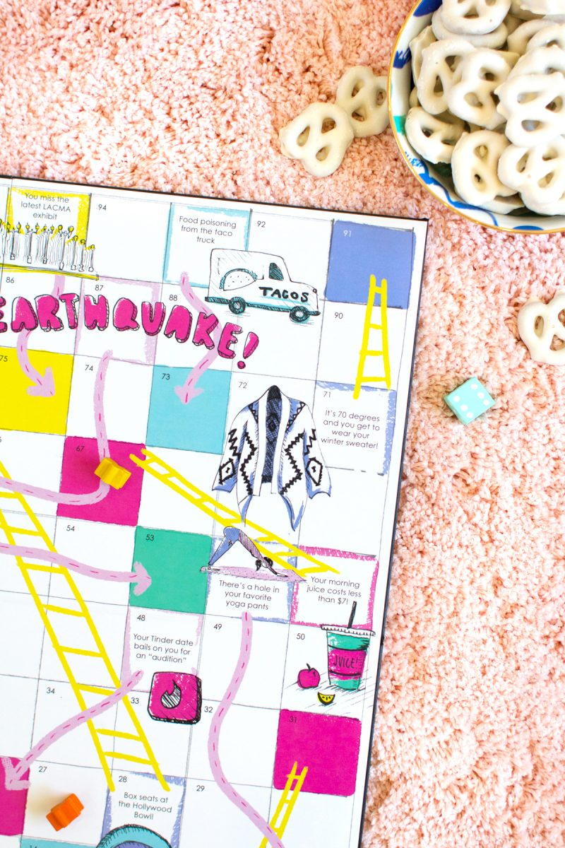 Download And Print Your Own Los Angeles Chutes Ladders Game