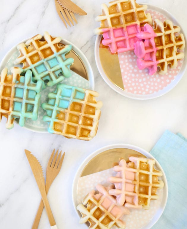 Color Dipped Waffle Recipe thumbnail