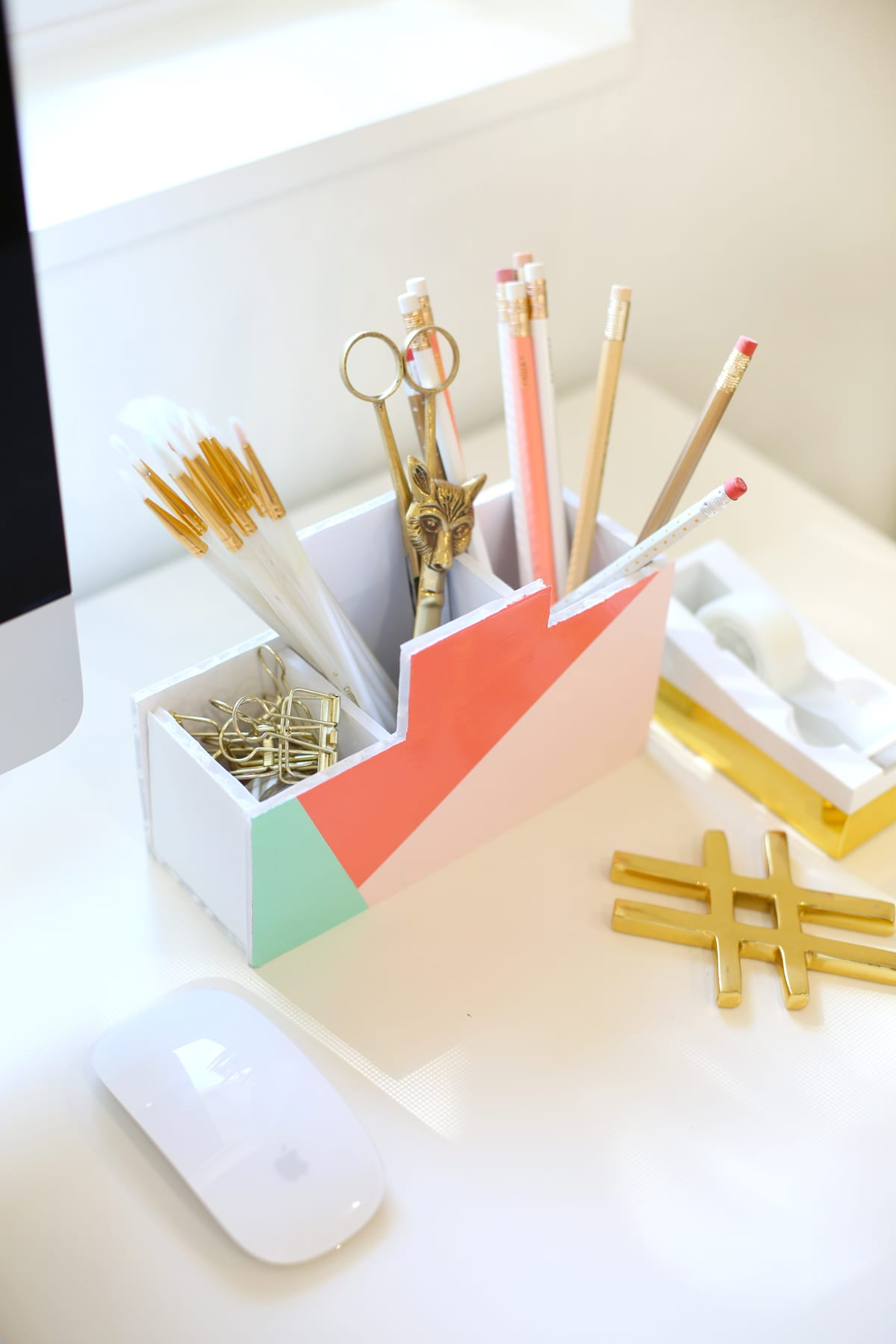 Diy back to school desk organizer lovely indeed - Desk organizer diy ...