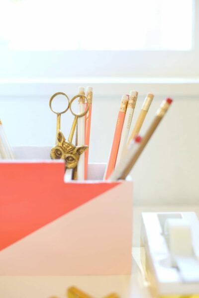 DIY Modern Desktop Organizer