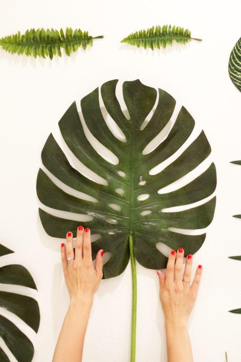 DIY Faux Botanical Photo Backdrop
