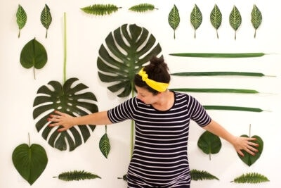 DIY Faux Botanical Photo Backdrop