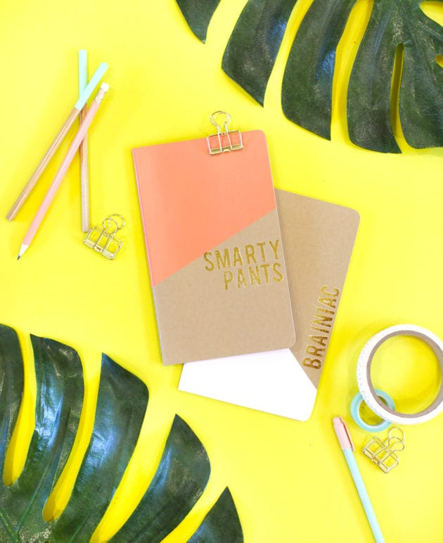 DIY Gold Foil Notebooks for Back to School thumbnail