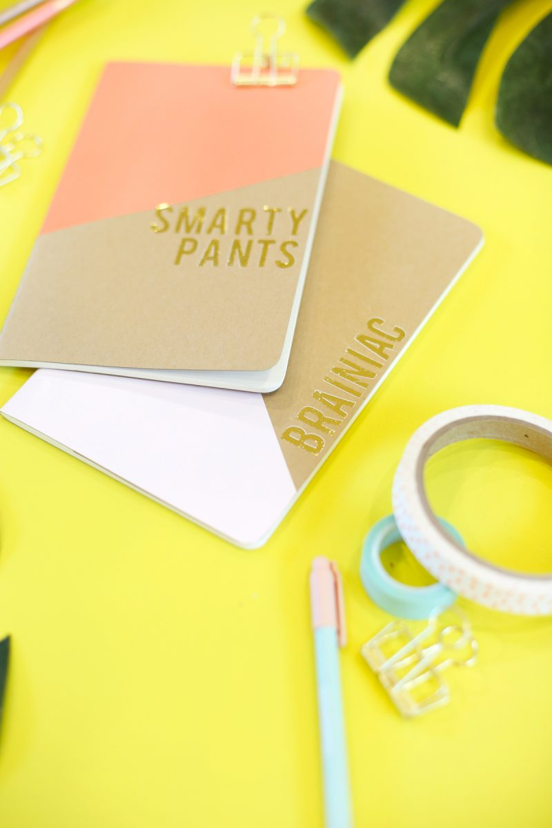 Diy Gold Foil Notebooks For Back To School Lovely Indeed