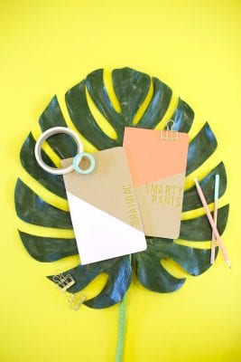 DIY Gold Foil Notebooks for Back to School