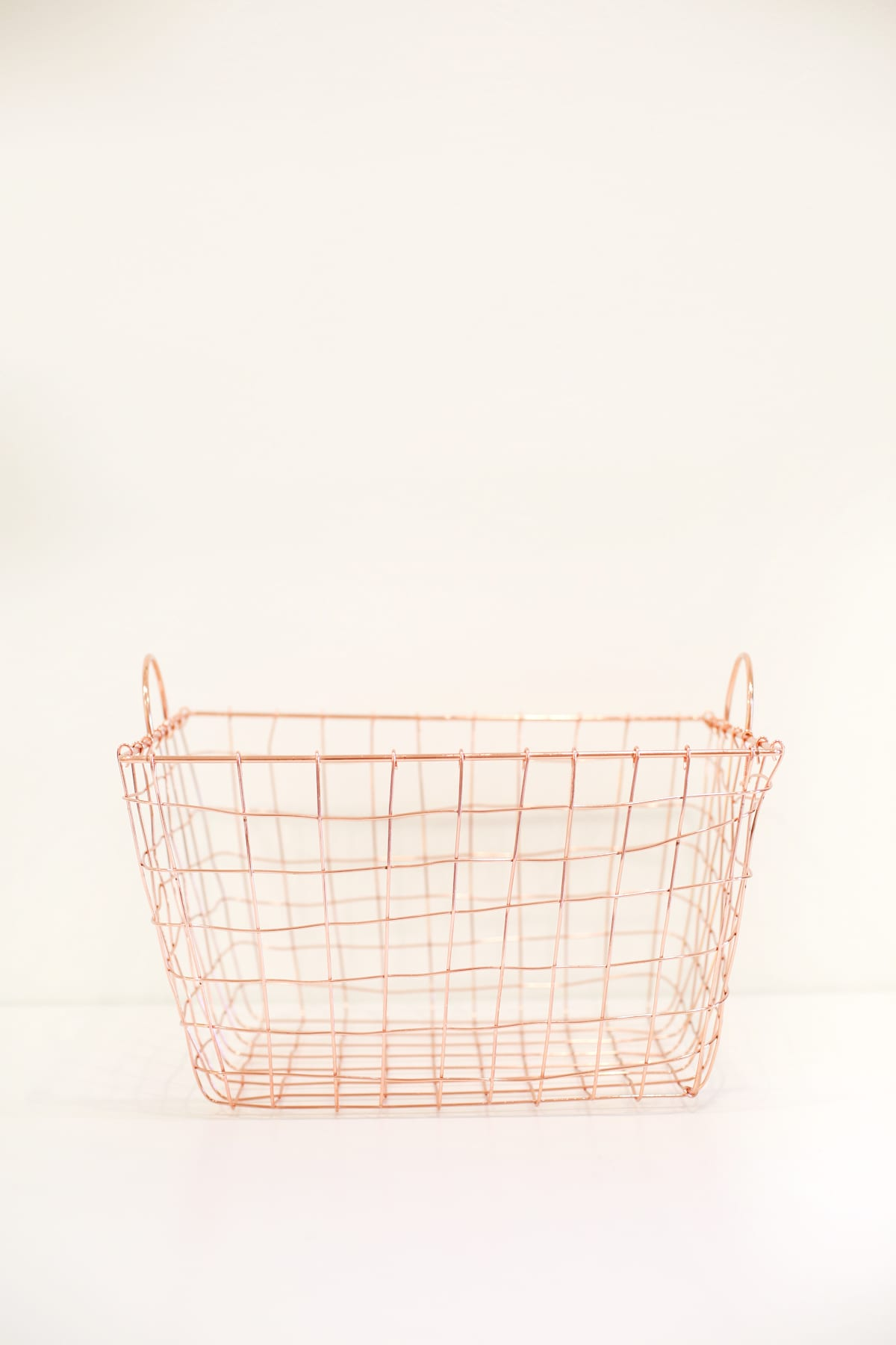Rose Gold Wire Basket