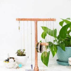 DIY Copper and Marble Jewelry Stand thumbnail