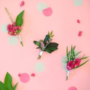 DIY Boutonnieres with Foraged Botanicals