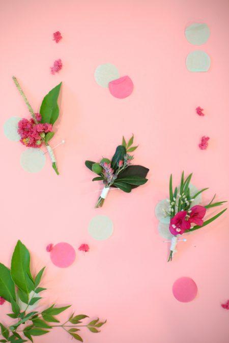 DIY Boutonnieres with Foraged Botanicals