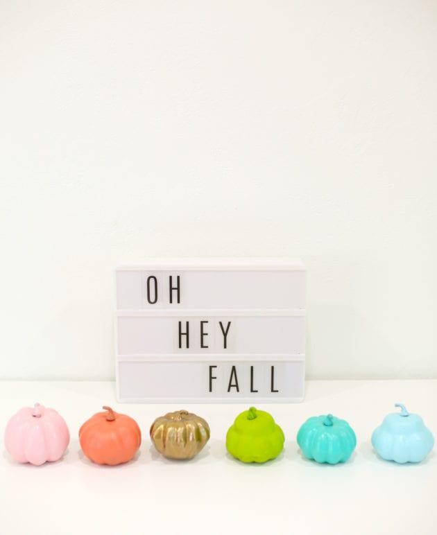 DIY Painted Mini Pumpkins thumbnail