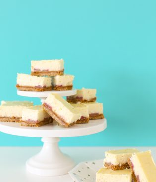 Easy Strawberry Vanilla Bean Cheesecake Bars thumbnail