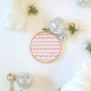 DIY Faux-Embroidered Wall Art thumbnail