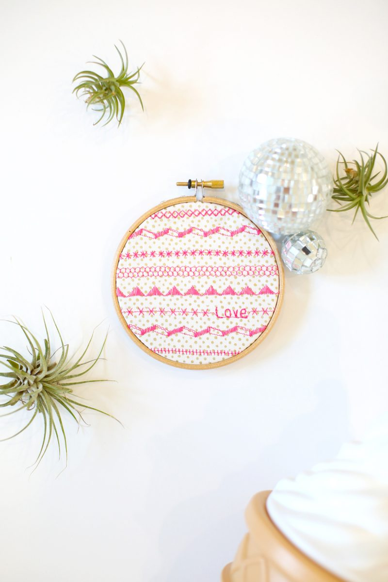 DIY Faux Embroidery Wall Art