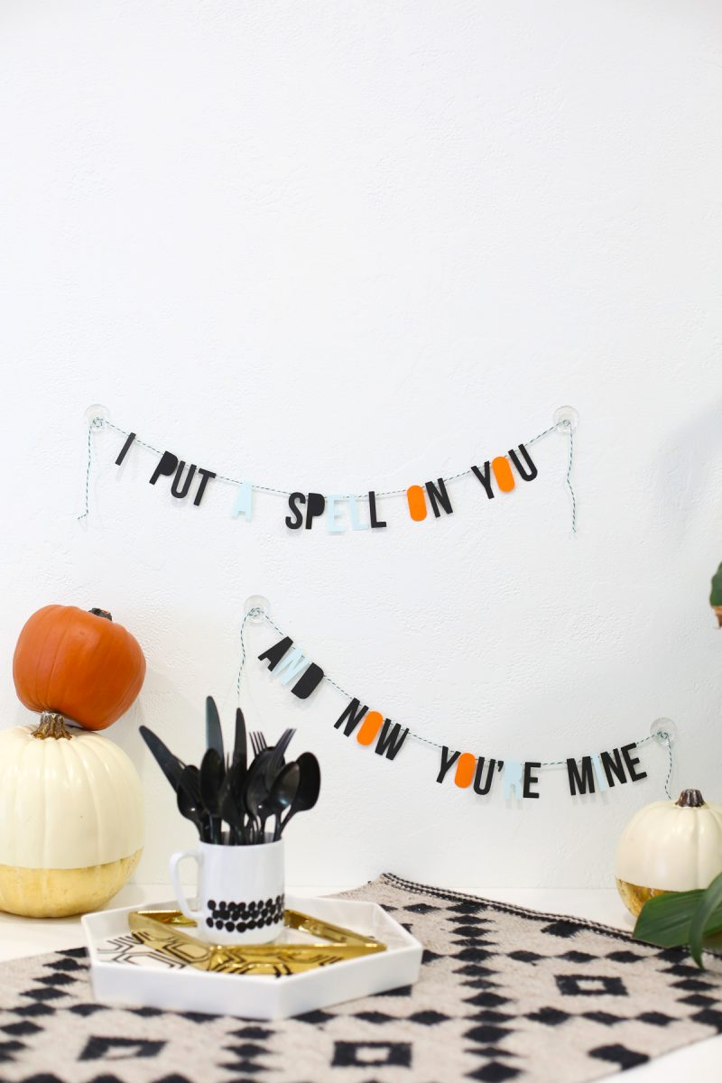 DIY Halloween Spell Garland
