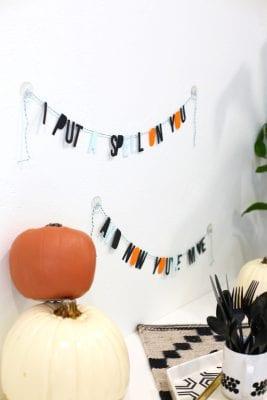 DIY Halloween Spell Garland