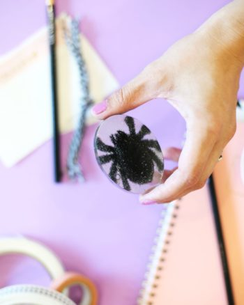 DIY Resin Tarantula Halloween Paperweight