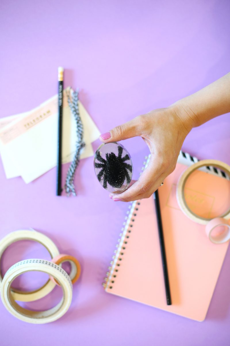 DIY Resin Tarantula Halloween Paperweight