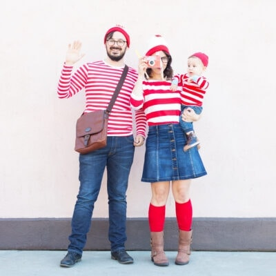Where's Waldo Family DIY Halloween Costume