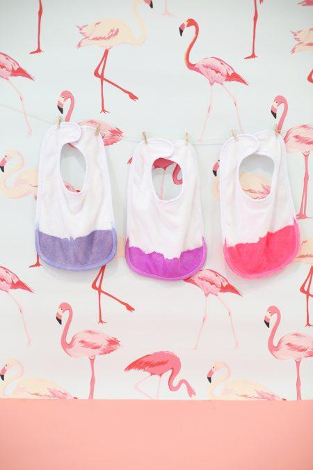 DIY Nontoxic Dip Dyed Baby Bibs