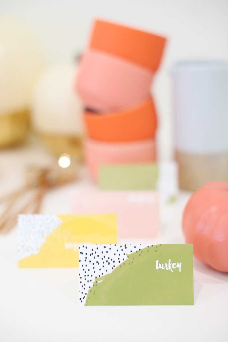 DIY Printable Thanksgiving Food Labels