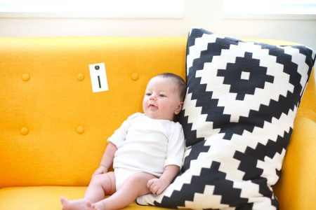One month old baby girl
