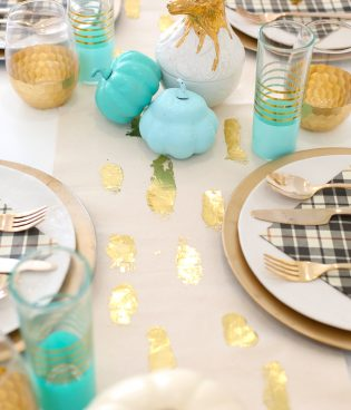 DIY Gold Foil Brushstroke Table Runner thumbnail