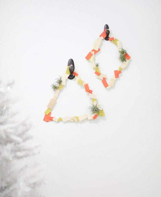 Geometric Holiday Wreaths with Air Plants thumbnail