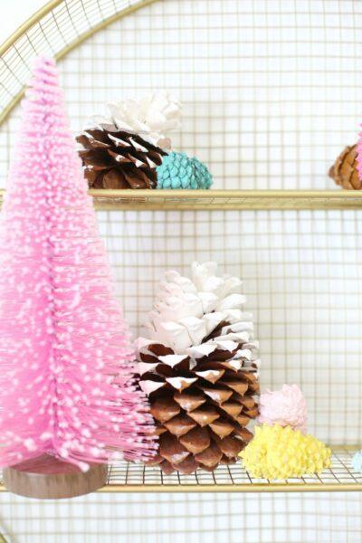 DIY Painted Pinecones