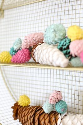 DIY Painted Pinecones