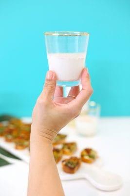 Jalapeño Popper Crostini with Spiced Milk Shots