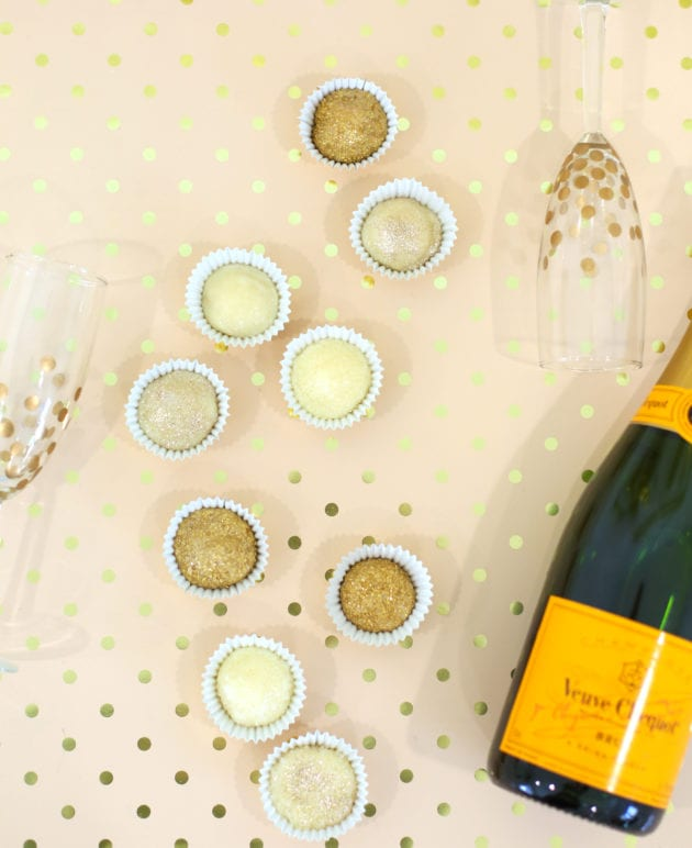 Champagne Truffles with Edible Sparkles thumbnail