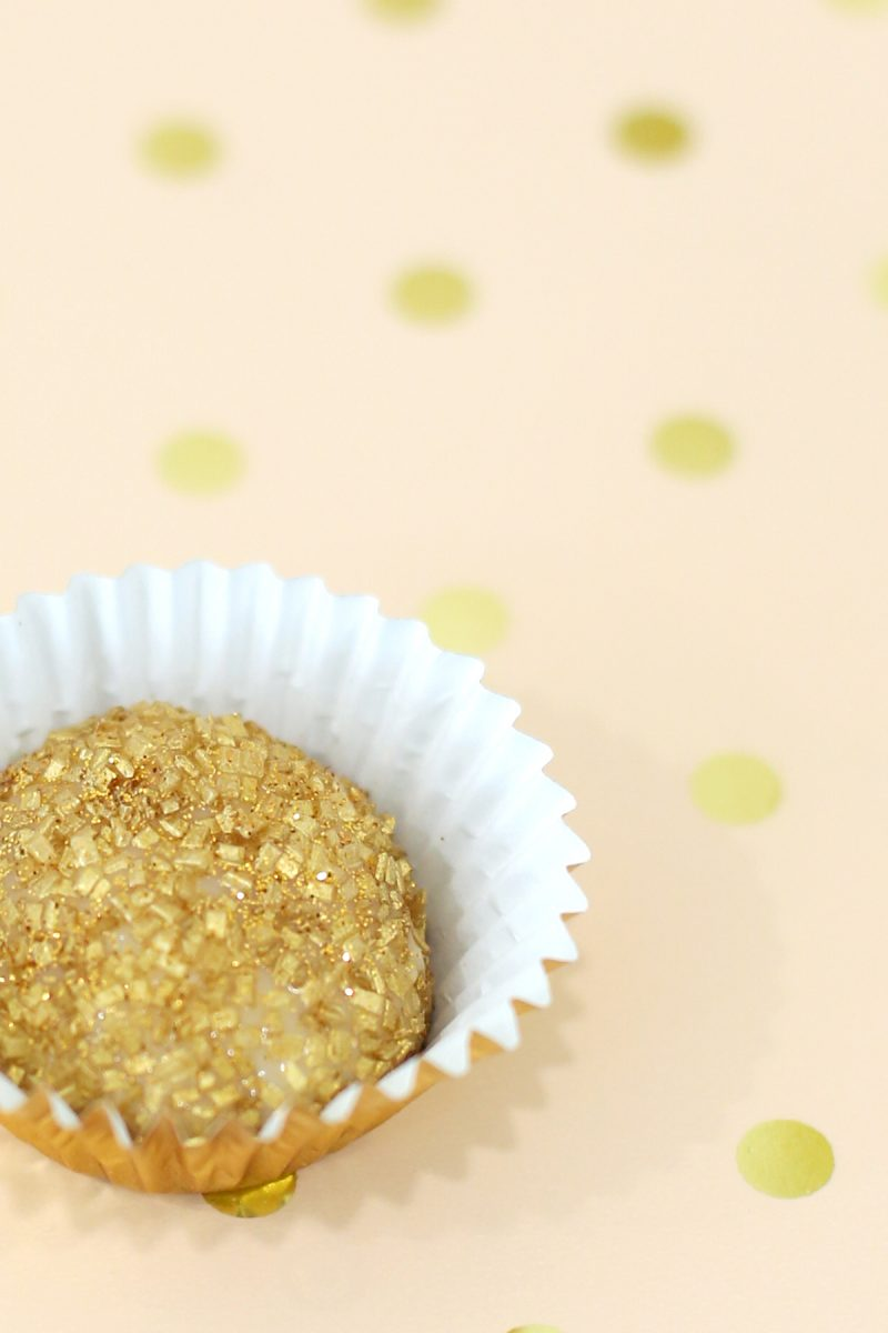 Champagne Truffles with Edible Sparkles Recipe