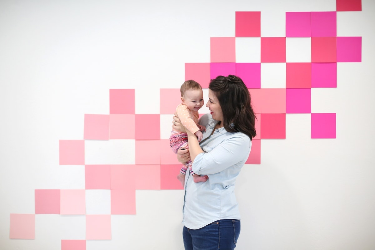 Get the simple secret on how to create a fun Valentine's Day photo backdrop for your parties at home or school! A fast, easy, and budget DIY tutorial to get adorable Valentine's Day photos. From DIY blog Lovely Indeed.