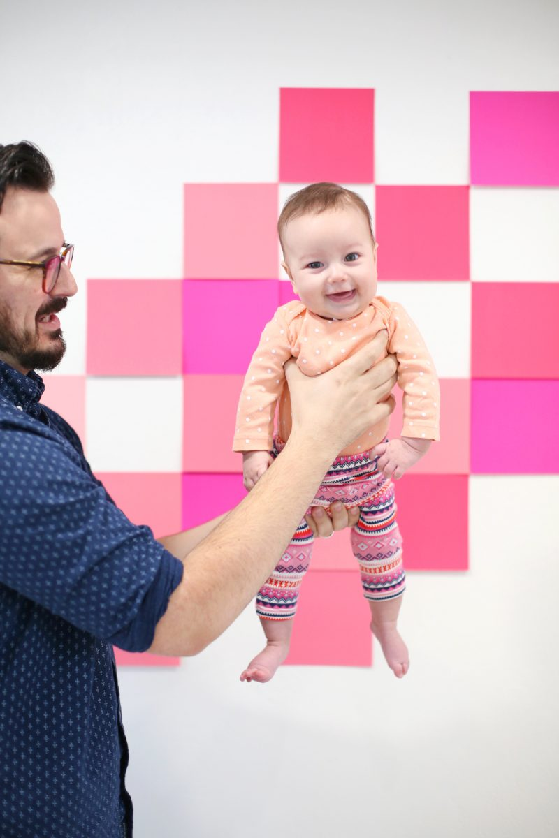 DIY Valentine's Day Photo Backdrop