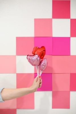 DIY Valentine's Day Photo Backdrop