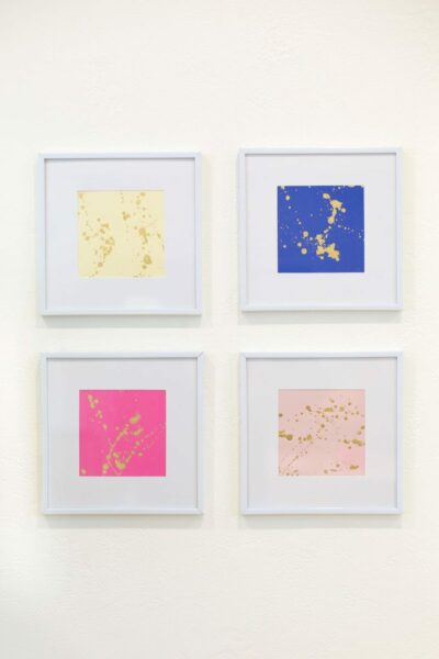 DIY Gold Leaf Splatter Art