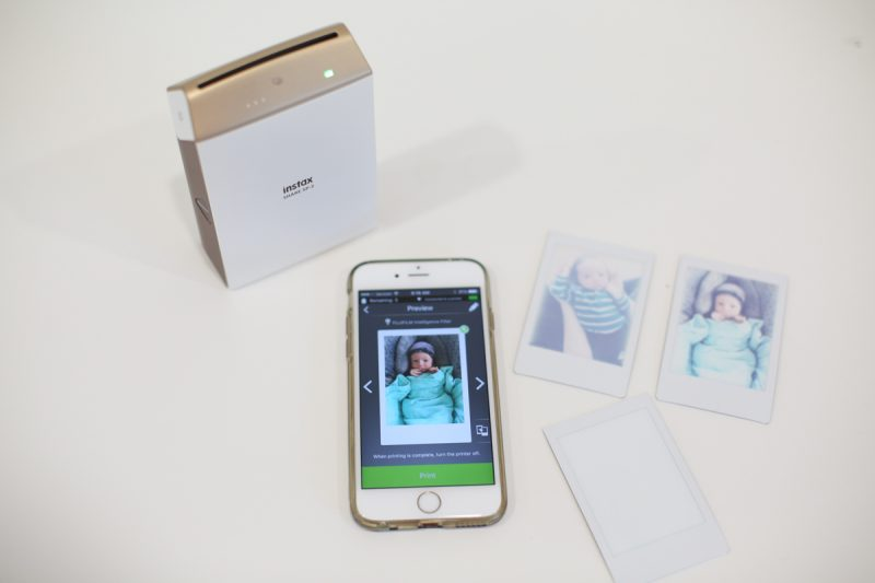 Monthly Baby Photo Album with Instax Photos
