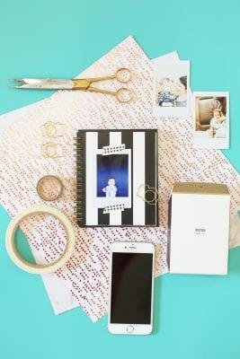 Monthly Baby Photo Album with Instax Photos