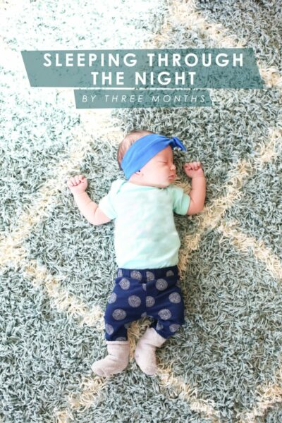 How to Help Baby Sleep Through the Night by Three Months