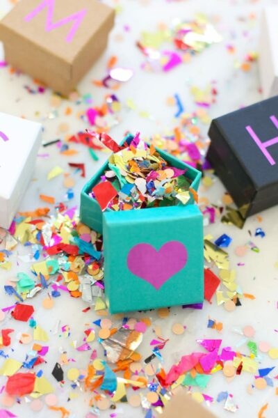 DIY Personalized Mini Gift Boxes