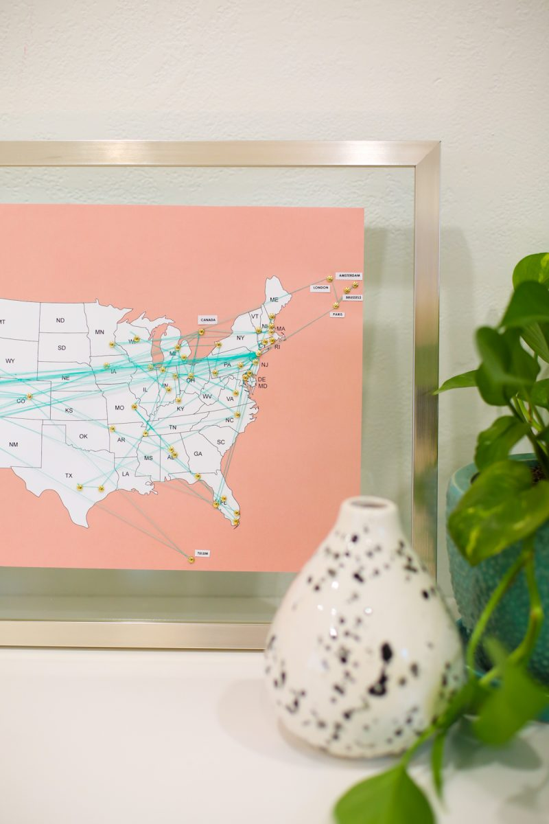 How to Make a Travel Map DIY