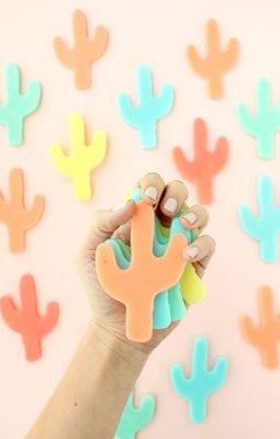 DIY Colorful Cacti Soaps