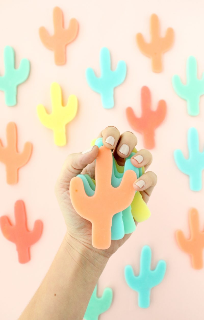 DIY Colorful Cacti Soaps