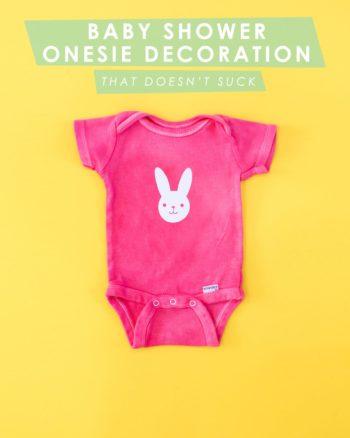 Baby Shower Onesie Decorating
