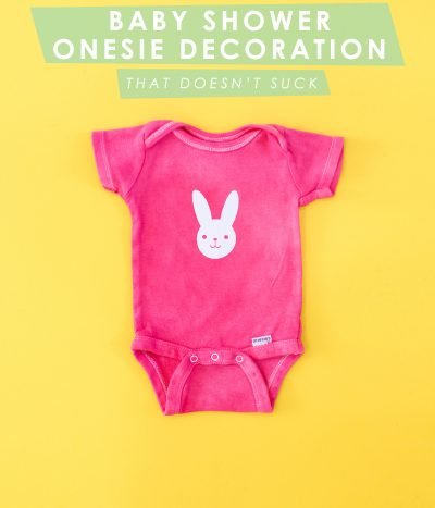 A Baby Shower Onesie Decorating Station (That Doesn't Suck) thumbnail