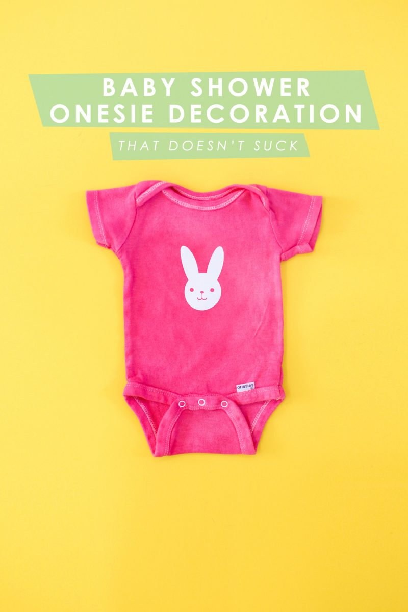 Baby Shower Onesie Decorating