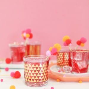 Valentine Pompom Drink Stirrers // 5 Minute DIY thumbnail